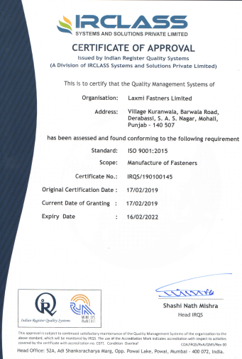 Certificate of ISO-9001-certificate